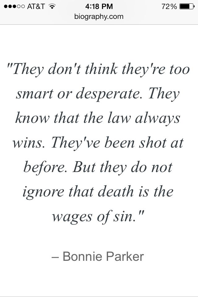 Quote From Bonnie Parker
