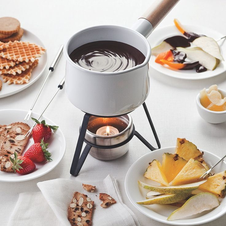 Silky chocolate fondue spiced with Roasted Ground Saigon Cinnamon is a fun and interactive dessert to serve at a casual get-together.