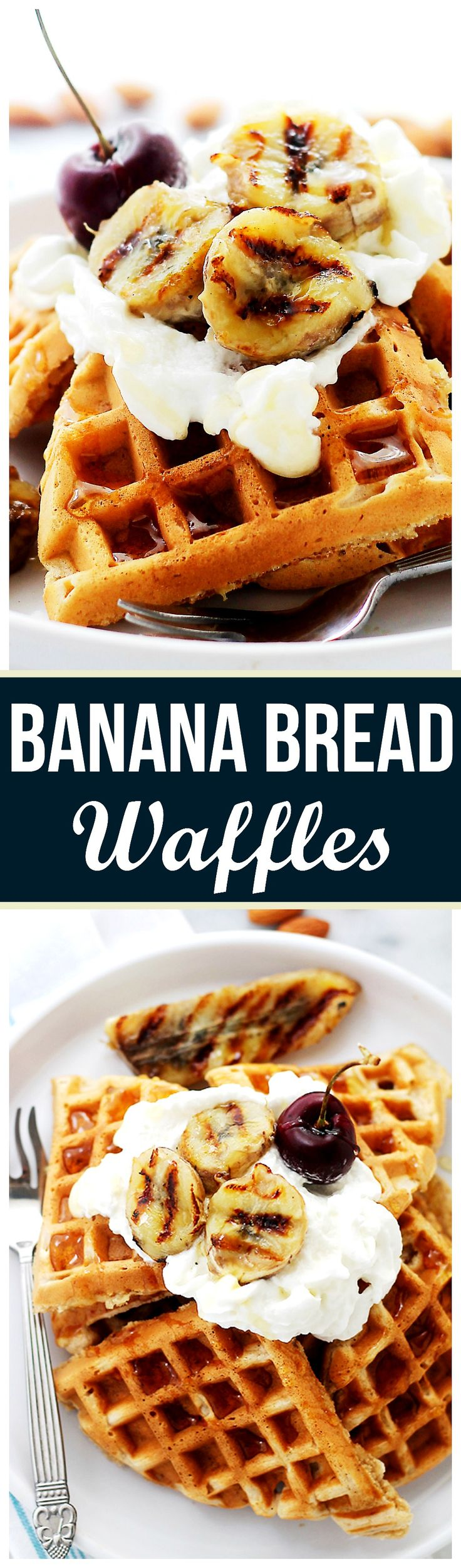 Banana Bread Waffles | www.diethood.com | The sweet and delicious taste of Banana Bread in a Waffle!