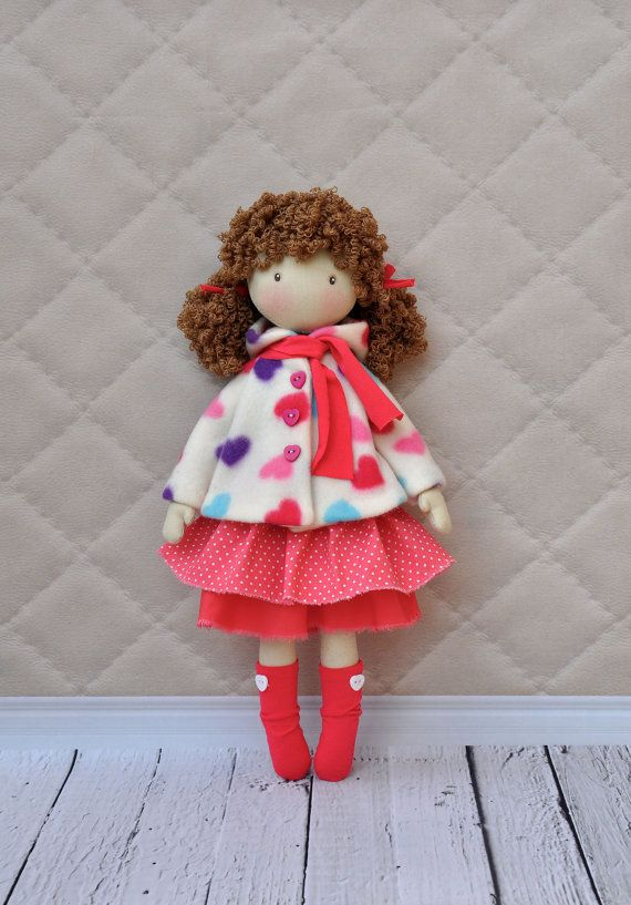 20% discount, Textile doll, decorative doll, collector dolls, doll cotton, rag doll, art doll