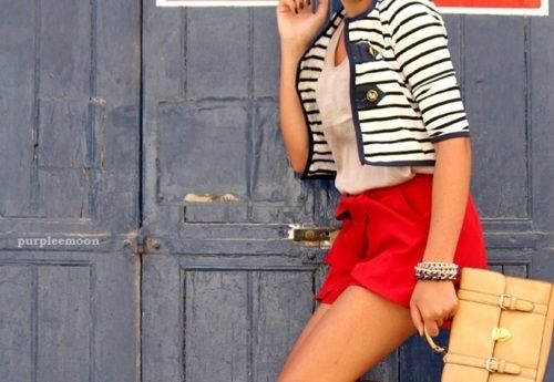 nauticalHouse Blueprints, Closets, Style Inspiration, Vacations Outfit, Red White Blue, Black White, 4Th Of July, Red Shorts, Sailors Theme