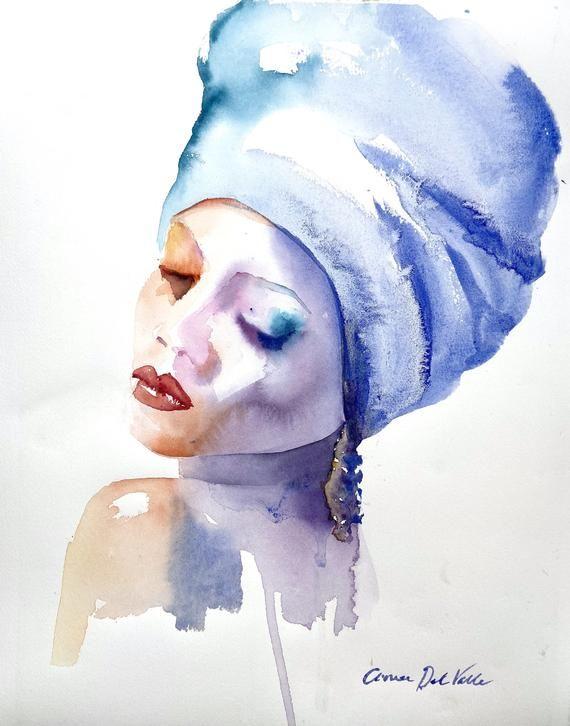 Cold Shoulder Orignal Watercolour Painting 15 X 20 Watercolour