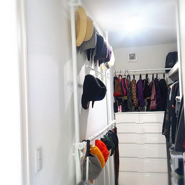 整理は好きだけど掃除は苦手/収納/ウォークインクローゼット/帽子収納/バッグの収納…などのインテリア実例 - 2014-06-15 13:05:41 | RoomClip(ルームクリップ)