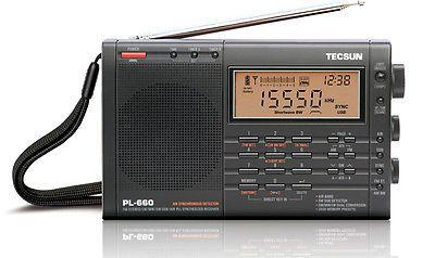 Portable AM FM Radios: Tecsun Pl660 Pll World Band Receiver Fm / Mw / Lw / Sw / Air Black -> BUY IT NOW ONLY: $87 on eBay!
