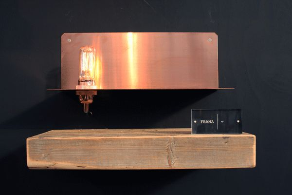 Gespot op de ShowUP-beurs: Frama 90 degree wandlamp