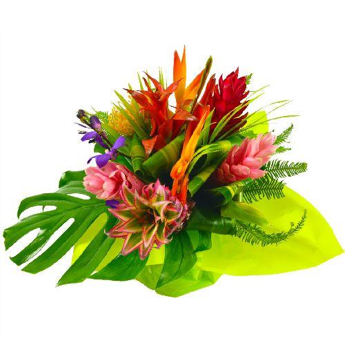 Ma doudou bouquets ronds de fleurs exotiques pinterest for Livraison bouquet de fleurs a domicile
