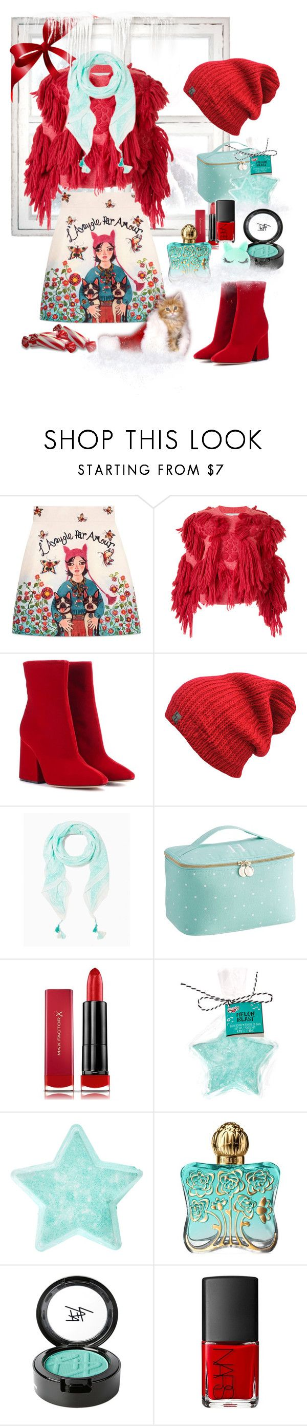 """""""stunning skirt"""" by jaja8x8 ❤ liked on Polyvore featuring Gucci, writtenafterwards, Maison Margiela, PBteen, Max Factor, Anna Sui, Beauty Is Life and NARS Cosmetics"""