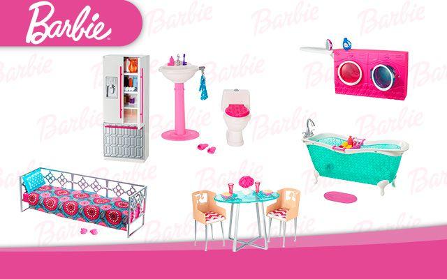 Juguete barbie surtido muebles los juguetes que toda for Muebles para barbie