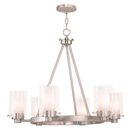 Find This Pin And More On Dining Room Lighting Livex Chandelier In Brushed Nickel