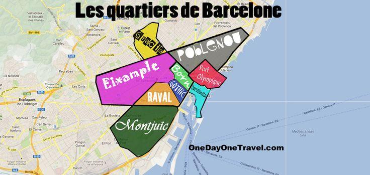 Carte des quartiers de Barcelone pano