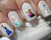 Tinkerbell Silhouette Nail Decals by ThirstyWillow on Etsy