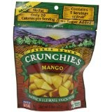 Crunchies Freeze-Dried Fruit Snack, Mango, 1.5-Ounce Pouches (Pack of 6) (Grocery)By Crunchies