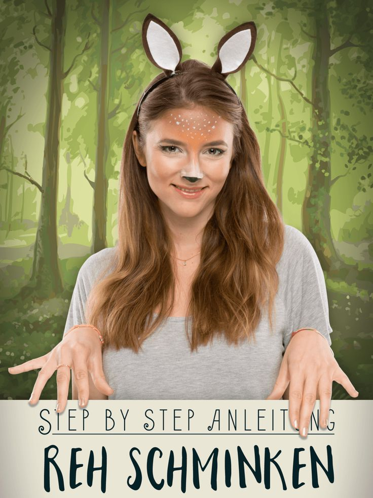 Reh Schminken für die Faschingsparty? Wir erklären euch, wie ihr ein Bambi-Make-up schminkt!