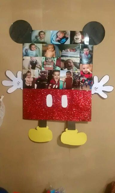 Finished w mickey mouse/ lil mans picture frame. Diy mickey mouse birthday party ideas