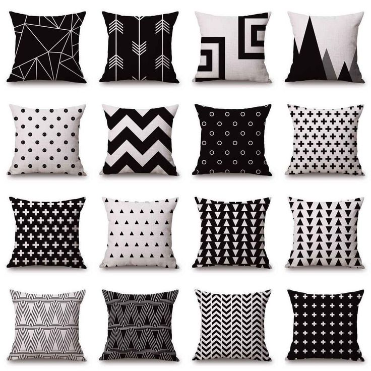 Marvelous Black White Sofa Pillow Case Cotton Linen Fashion Throw Cushion Cover Home  Decor