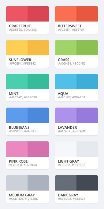Flat color palette