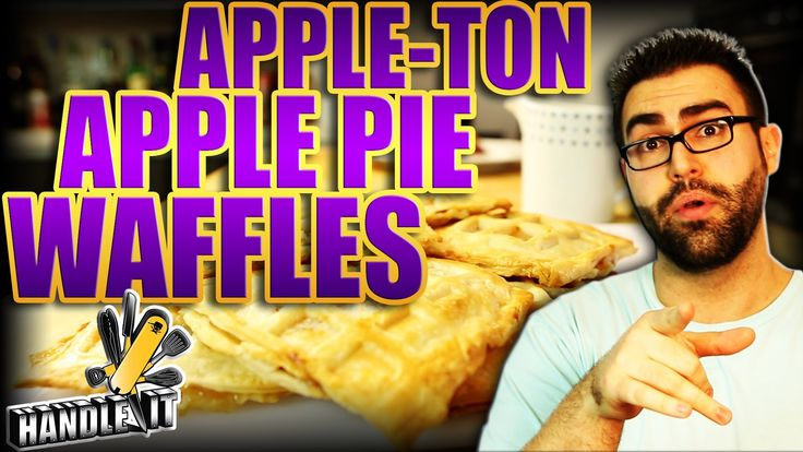 Appleton Apple Pie Waffles...  with bacon, because this is Epic Meal Time we're talking about.