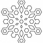 Snowflake Coloring Page For Kids 1