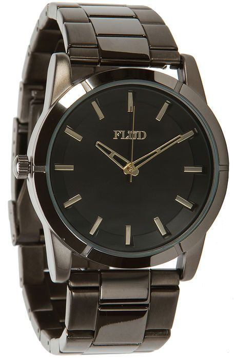 Flud Watches The Moment Watch in Gunmetal Linked