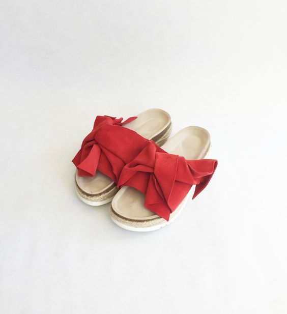 Every day is one step closer to summer 👣🏖  Rita Row bow sandal available online and instore  #ritarow #sandal #bow #red