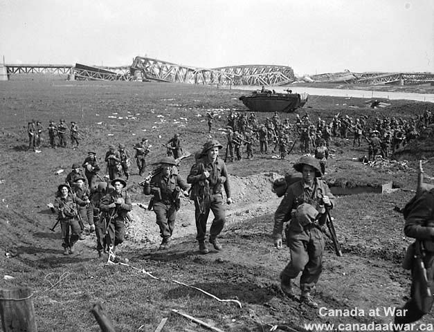 The Netherlands - On Nov. 9, 1944, the 2nd Canadian Corps occupied the Nijmegen salient bridgehead in Holland and turned it into a winter base. Then on Feb. 8, 1945, following a huge barrage, Allied units began their winter assault - the Rhineland Offensive called Operation Veritable.