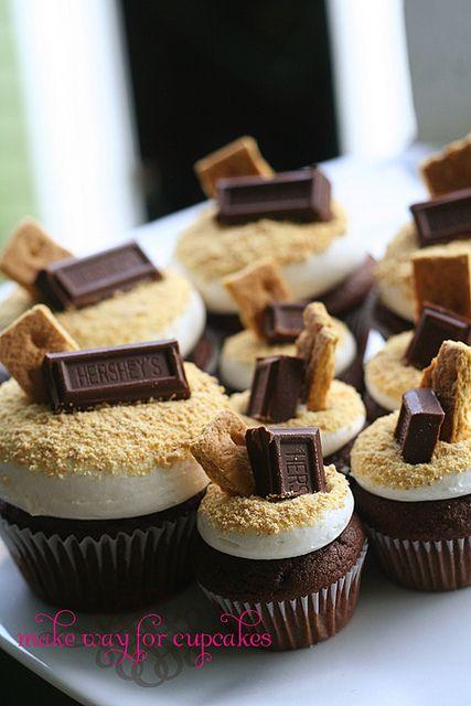 Smores cupcake dessert   Tumblr