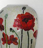 thumbprint image of mosaic poppy vase