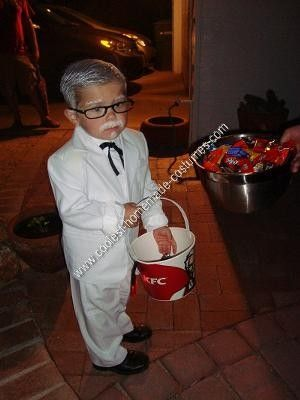Homemade Colonel Sanders Child Halloween Costume Idea: My husband says my mother ruined me for Halloween by always making mine and my brother's costumes. So, I absolutely WILL NOT buy an already made costume
