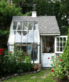 Greenhouses & garden sheds on Pinterest | Greenhouses, Old Windows ...