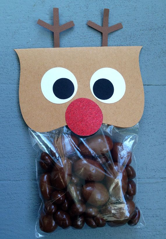 5 Reindeer Poop Gift Bags candy not included by GabbyCatCreations, $7.00