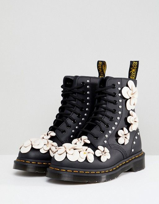 Flower Martens For The Of Love 3d Dr Art Lace Up Boots RFEawaxB