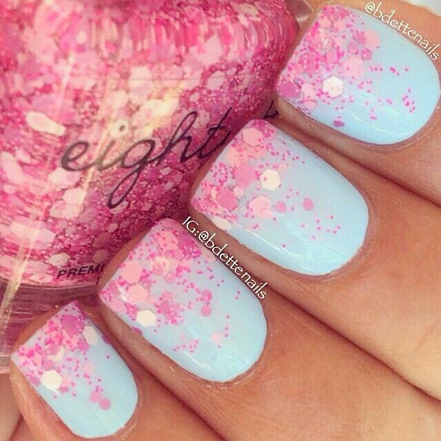 French - Pink Glitter
