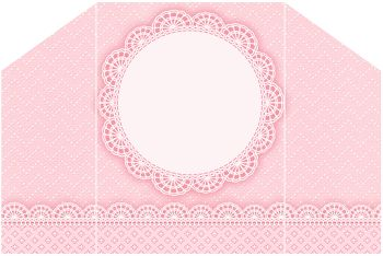 Encaje Rosa: Invitaciones y Cajas para Imprimir Gratis.