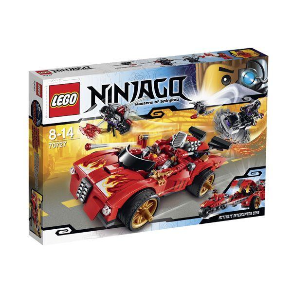 Lego Ninjago - Deportivo Ninja X-1; Edad recomendada: A partir de 8 años.  X-1 Ninja Deportivo es un vehículo increíble 2-en-1. Embárcate en la persecución de los Nindroids que han robado Tecno-Blade de Kai. Apunta los misiles flick a los discos de los  Nindroid para alejarte de sus hojas de sierra. Vive poderosas aventuras en este sensacional juego de Lego... En http://www.opirata.com/lego-ninjago-deportivo-ninja-p-26494.html