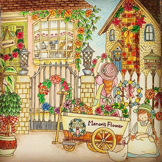 540 Best Images About Romantic Country Coloring Book