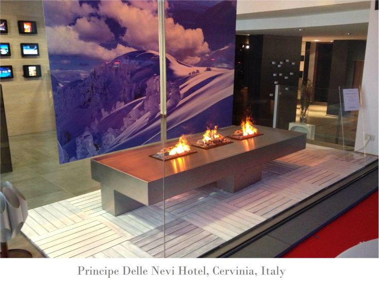 A gorgeous Opti-myst #fireplace #installation in #Italy