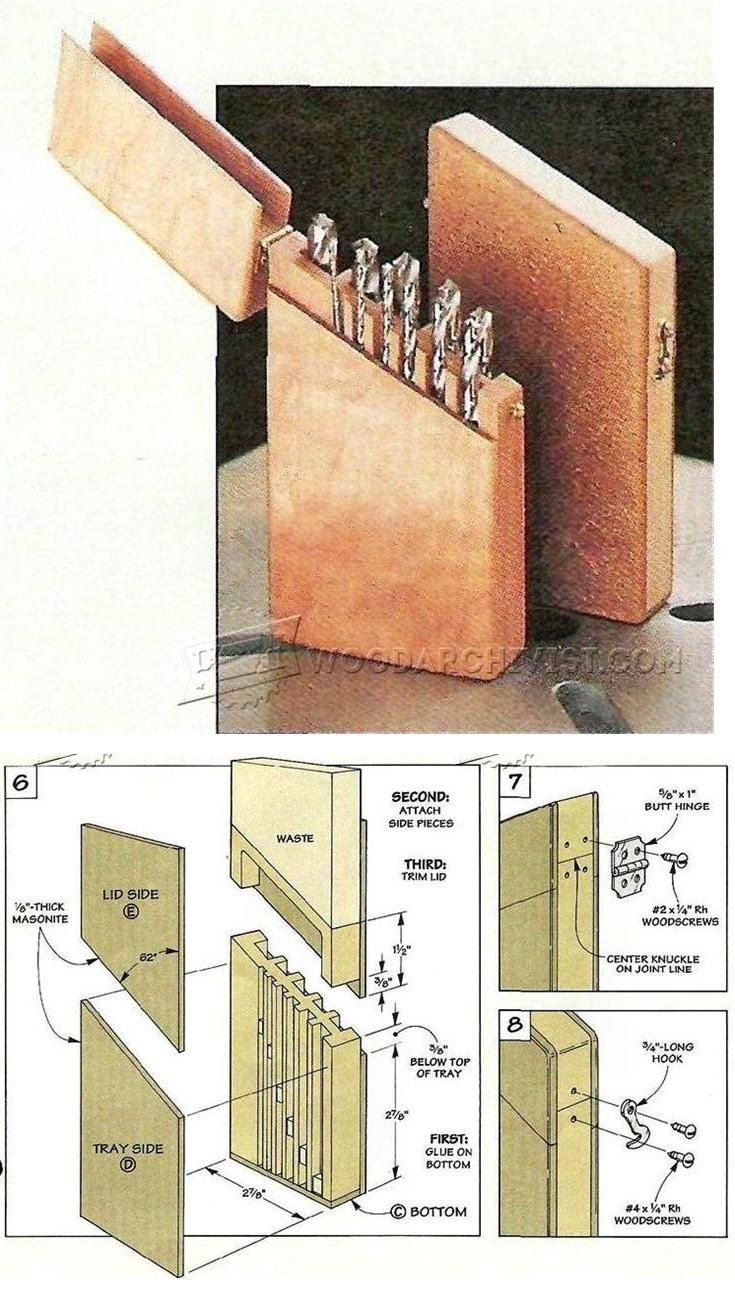 Drill bit storage case plans drill tips jigs and fixtures woodarchivist com