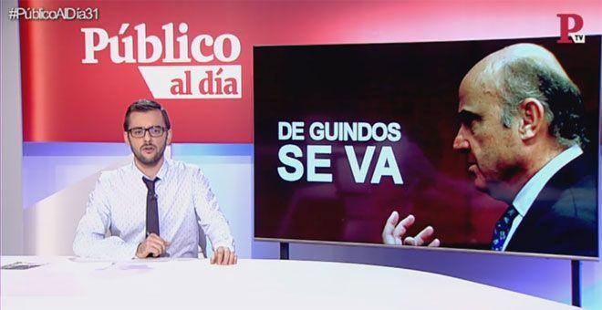 Guindos se va el himno de Marta Sánchez y otras noticias de hoy del informativo 'Público al Día' del 19 de febrero de 2018
