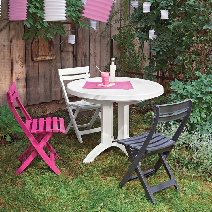 Ensemble Table Et Chaise De Jardin Grosfillex. Finest Salon De ...