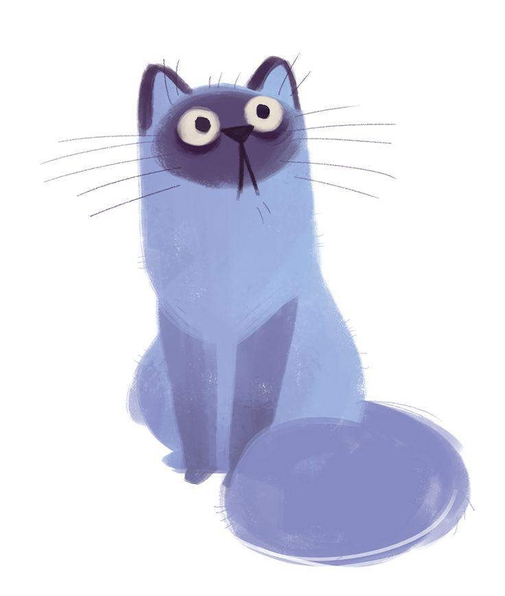 Daily Cat Drawings — 424: Purple Cat