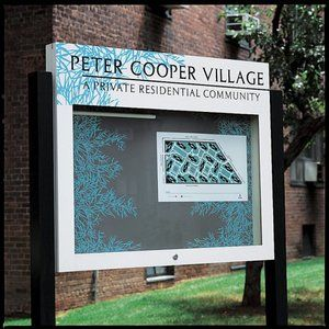 17 best images about monument signs on pinterest laser for Peter cooper village