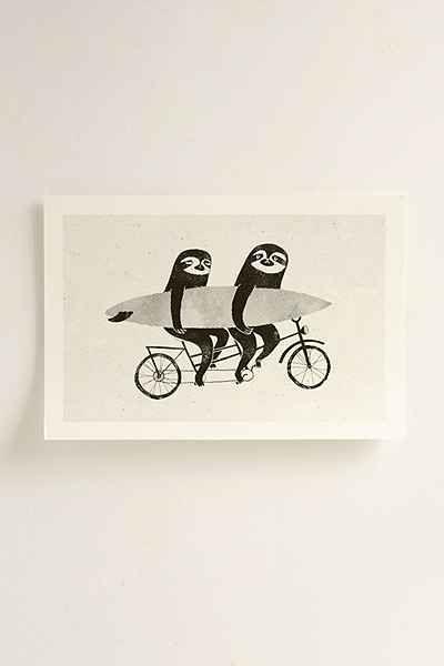 Luka Va Tandem Sloths Art Print - Urban Outfitters