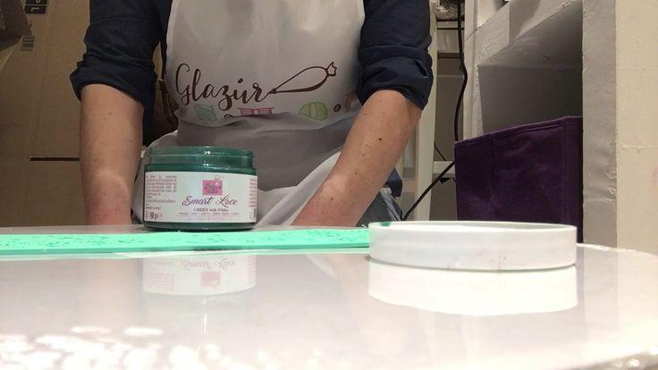 Csillámos zöld cukorcsipke alap