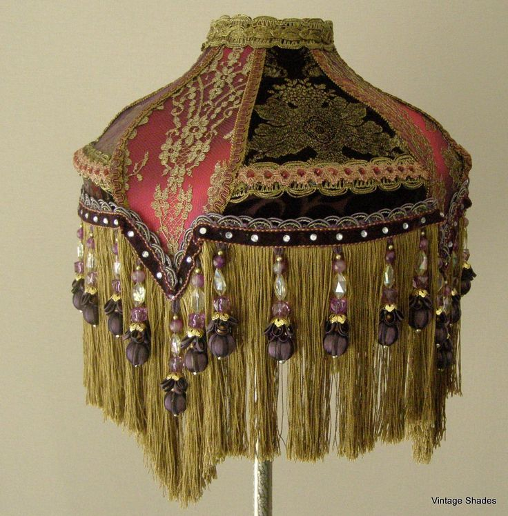 157 best bridge lamp shades images on pinterest antique lamps jewel tones of deep red purple golde gina shade mozeypictures Image collections