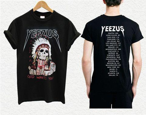 yeezus shirt yeezus indian skeleton yeezus tour shirt kanye west only 14.9$ rate shipping 9.9$ secured payment using paypal www.payunan.com