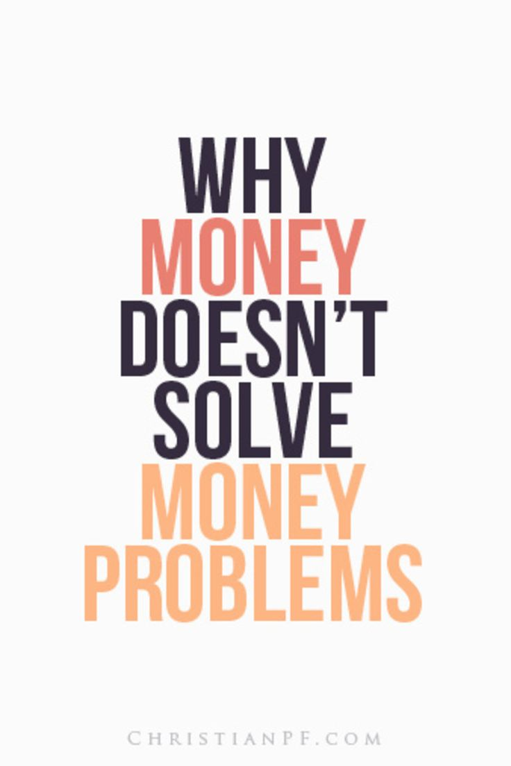 Why Money Doesn't Solve Money Problems http://seedtime.com/money-doesn%e2%80%99t-solve-money-problems/