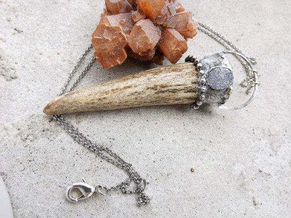 Deer spirit antler necklace / Magic & naturally shed by LovGeo