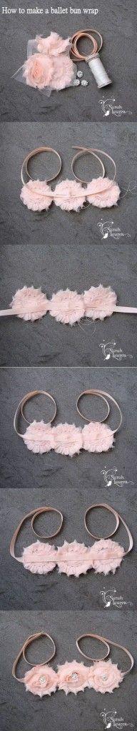 Ballet Bun Wrap Instructions collage