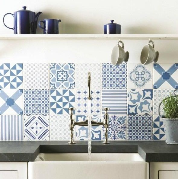 While The Typical Kitchen Backsplash Has Been Seen In Glass, Metal And  Stone, Cement Tile Backsplashes Have Become Very Trendy L.