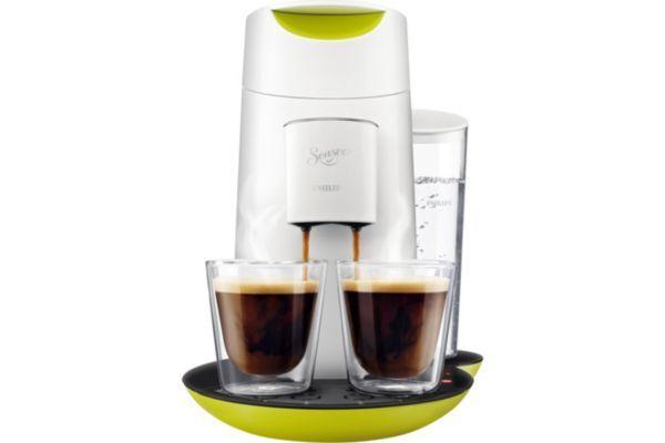 Cafetière à dosettes PHILIPS Twist HD7870/11 blanc anisé prix promo Webdistrib 83.09 € TTC au lieu de 99.00 €